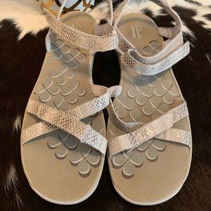 Clark collection snakeskin sandals 11
